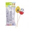 Zestaw dekoracji kreatywnych na piku, jajka x3, wąsiki, farbki (WN6102)