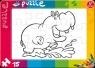 Puzzle do kolorowania 15 Hipopotam