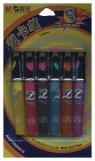 Długopisy żelowe brokatowe M&G 6 kolorów