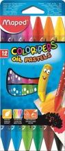 Kredki Colorpeps pastele olejne 12 sztuk
