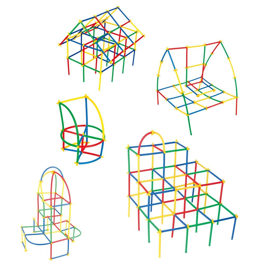 Klocki małych geniuszy - Słomki, 300 elementów (110103)