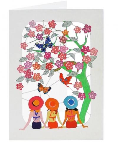 Karnet PM410 wycinany +koperta Kobiety pod drzewem