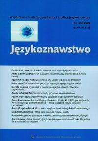 Językoznawstwo 3/2009