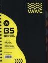 Kołozeszyt B5 Wave w kratkę 120 kartek żółty