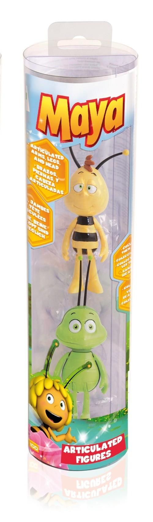 Pszczółka Maja figurki w tubie Maja i Bzyk