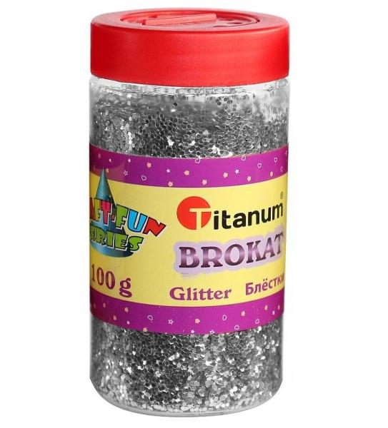 Brokat sypki Titanum Craft-Fun Series 113 g - srebrny (360415)