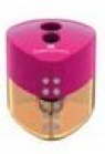 Temperówka GRIP Auto podwójna z pojemnikiem różowa (183103 FC)