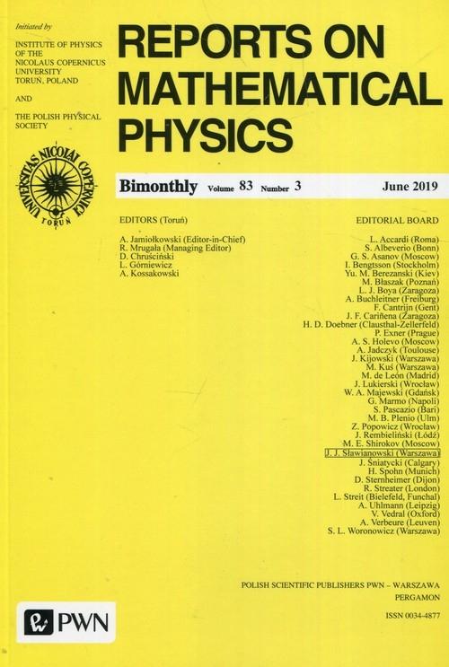 Reports on Mathematical Physics 83/3/2019