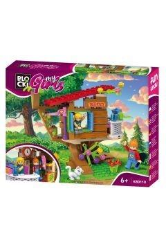 Klocki plastikowe Blocki My Girls Domek na drzewie (KB0110)