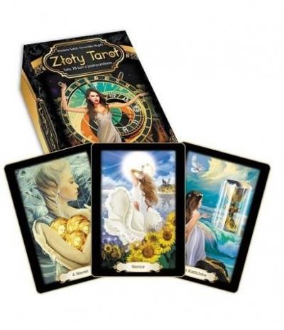 Złoty tarot (książka + karty) w.2 Wróżbita Soleil, Tarocistka Magda