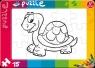 Puzzle do kolorowania 15 Żółwik