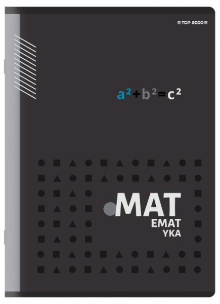 Zeszyt Top 2000 A5/60k, kratka z marginesem - Matematyka (400150671)