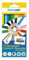 Kredki ołówkowe 12 kolorów trójkątne Primaart