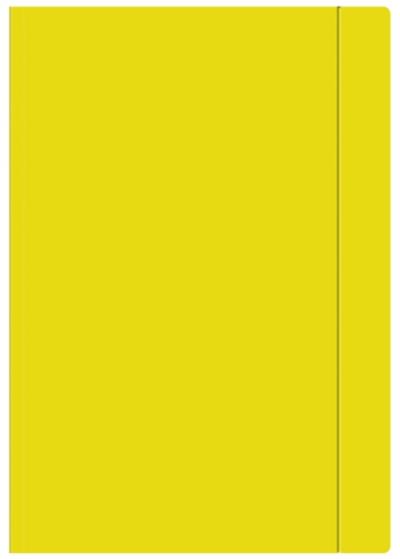Teczka z gumką Interdruk A4+ jednokolorowa żółta