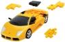 Puzzle 3D Cars - Lamborghini żółty - poziom 4/4 G3