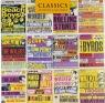 Karnet kwadrat z kopertą A selection of British Concert posters