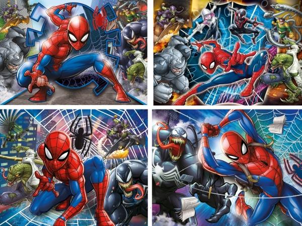Puzzle Progressive SuperColor 4w1: Spider-Man (21410)