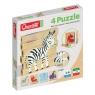 Drewniane klocki puzzle Jungle 6 elementów