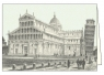 Karnet z kopertą ITW 010 Pisa Piazza Miracoli