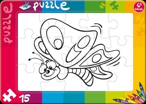 Puzzle do kolorowania 15 Motyl