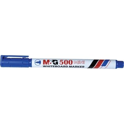 Marker mini suchościeralny niebieski 1,0-2,0 mm okrągła końcówka (AWM25673)