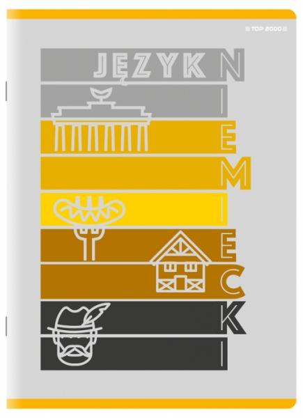 Zeszyt Top 2000 A5/60k, kratka z marginesem - Niemiecki (400152055)