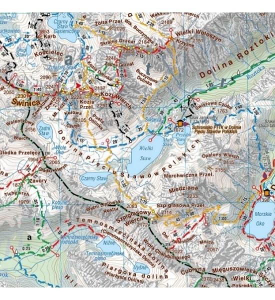 Tatry Polskie i Słowackie, 1:50 000 - mapa turystyczna praca zbiorowa