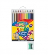 Kredki ołówkowe okrągłe - Jumbo - 12 kolorów + temperówka (33107PTR)