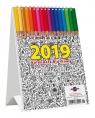 Kalendarz 2019 KBA5 Biurkowy A5 rozgwiazda