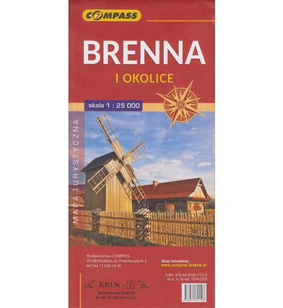 Ustroń, Brenna i okolice, 1:25 000 - mapa turystyczna (1574-2020)