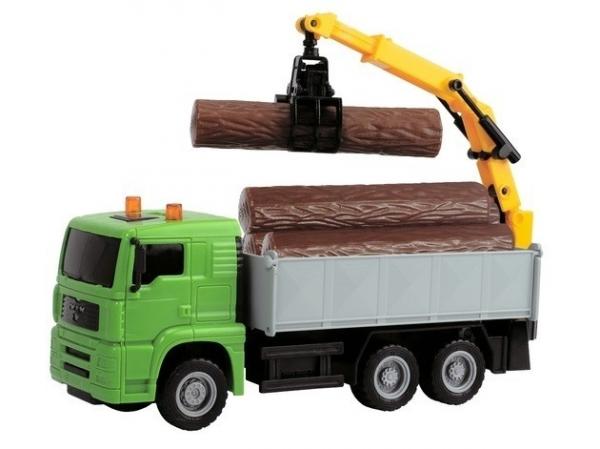 Pojazdy Heavy Cit y Truck, 22 cm, zielony