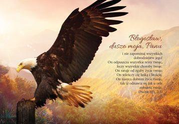 Kartka składana - Błogosław, duszo moja, Panu