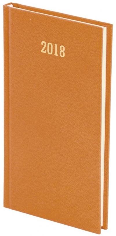 Kalendarz książkowy A6 tygodniowy Albit pomarańcz 2018