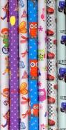 Papier do pakowania prezentów wzór dziecięcy 200x70 /80gram./ MIX WZORÓW