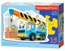 Puzzle konturowe Funny Crane Truck 15 elementów (015108)
