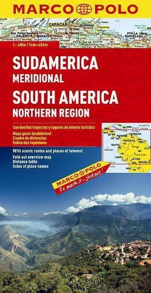 Ameryka Południowa - północ 1:4 mln  - mapa Marco Polo Opracowanie zbiorowe