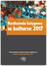 Rozliczenia księgowe w kulturze 2017