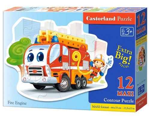 Puzzle maxi konturowe 12: Fire Engine (120109)