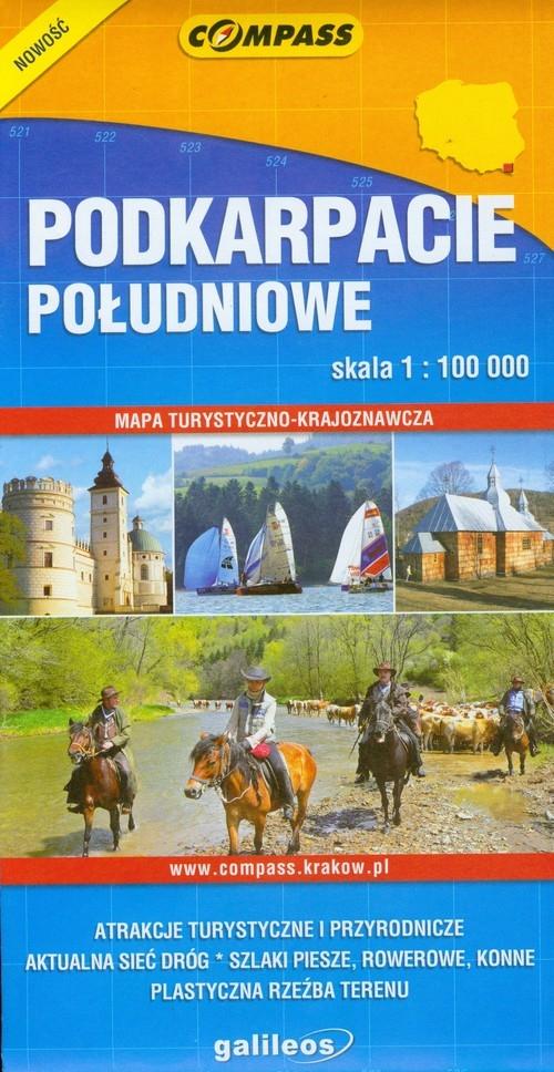 Podkarpacie Południowe mapa turystyczno krajoznawcza 1: 100 000