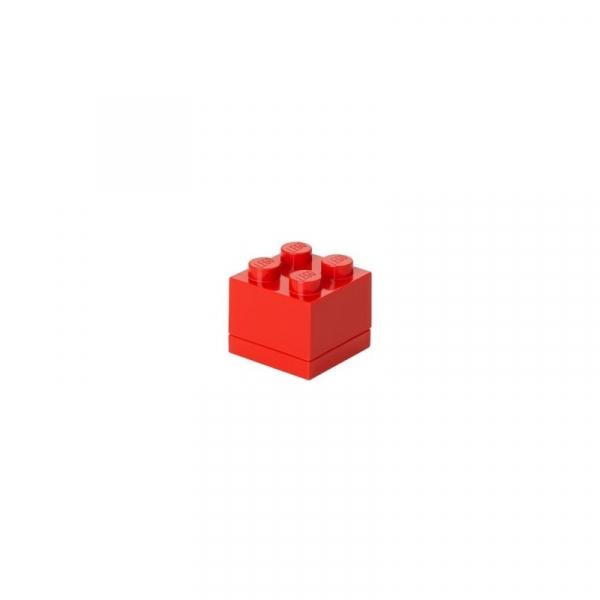Minipudełko klocek LEGO 4 - Czerwone (40111730)