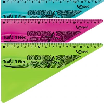 Ekierka Maped Twist'n Flex, 15 cm niełamliwa