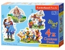 Puzzle konturowe 4w1 3-4-6-9 el.:Snow White's Story