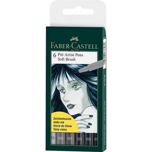 Pitt Artist Pen Soft Brush - 6 kolorów (167806 FC)
