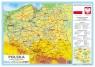 Podkładka na biurko Polska mapa fizyczna