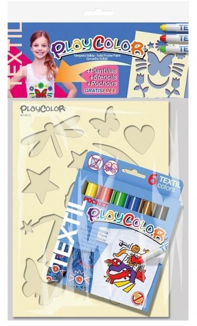 Farby do tkanin 6 kolorów - zestaw dla dziewczynek