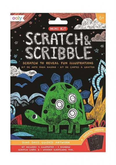 Zdrapywanki Mini Scratch & Scribble Dinozaury