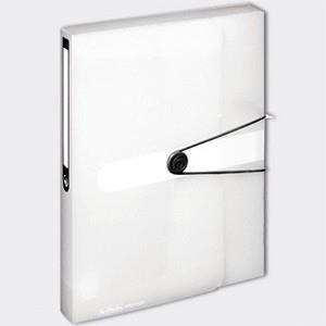 Teczka A4 PP z gumką Easy Orga Biała transparentna