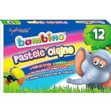 Kredki pastele olejne 12 kolorów Bambino 51541