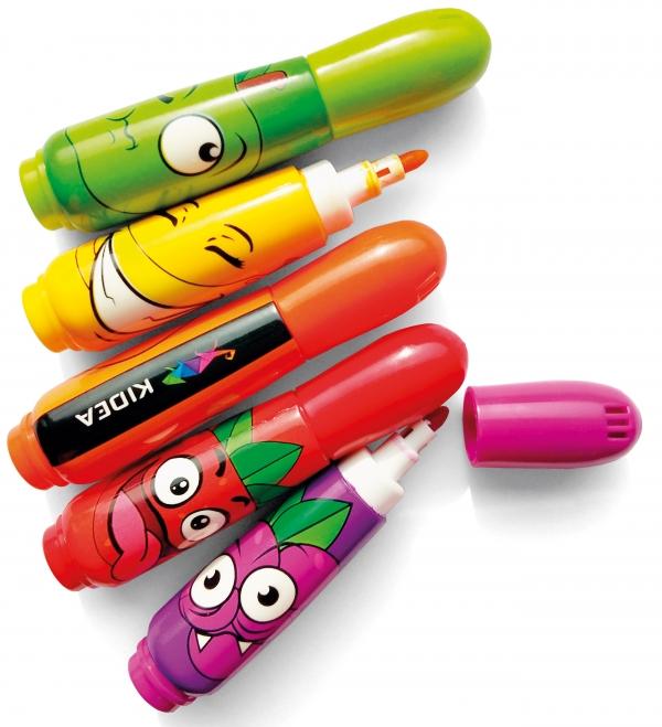 Pisaki zapachowe Kidea, 12 kolorów (DRF-078110)