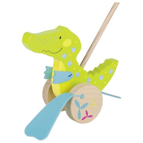 Pchacz Krokodyl Susibelle - zabawka do pchania (GOKI-54911)